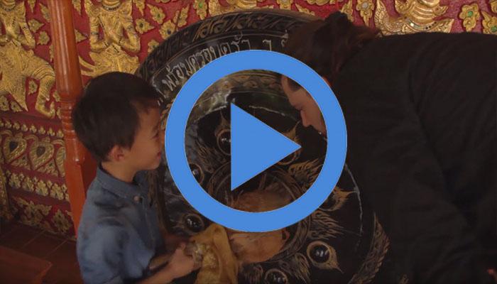 Atip and Trevor visit Wat Suan Dok