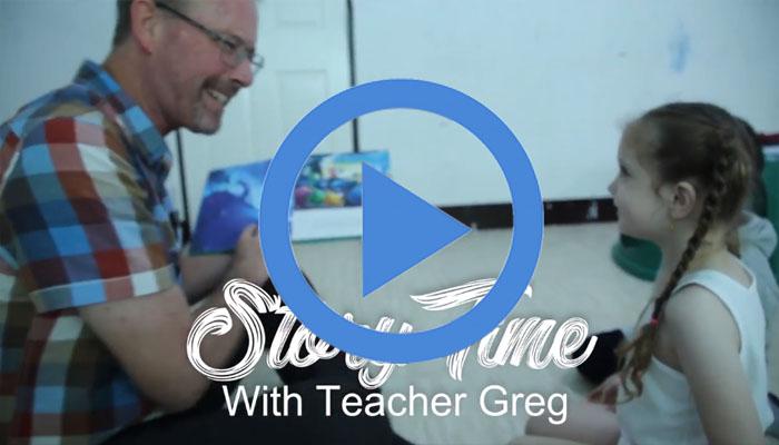 เล่านิทาน กับ Teacher Greg พร้อมด้วย น้องTiffany และน้องNaitan!