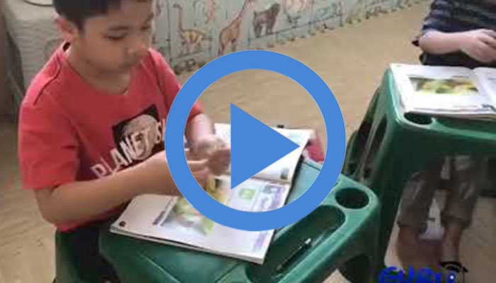 เด็กอนุบาลเรียนรู้ภาษาอังกฤษผ่านเสียงเพลง